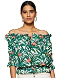 Miss Chase Women's Floral Loose Fit Top (MCS17TP08-66-172_Multicolor_Medium)