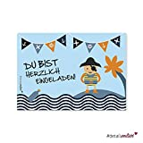 15 Piraten Einladungskarten I dv_038 I DIN A6 I Kinder Einladung für Jungen I Set zum Ausfüllen I Kindergeburtstag Einschulung