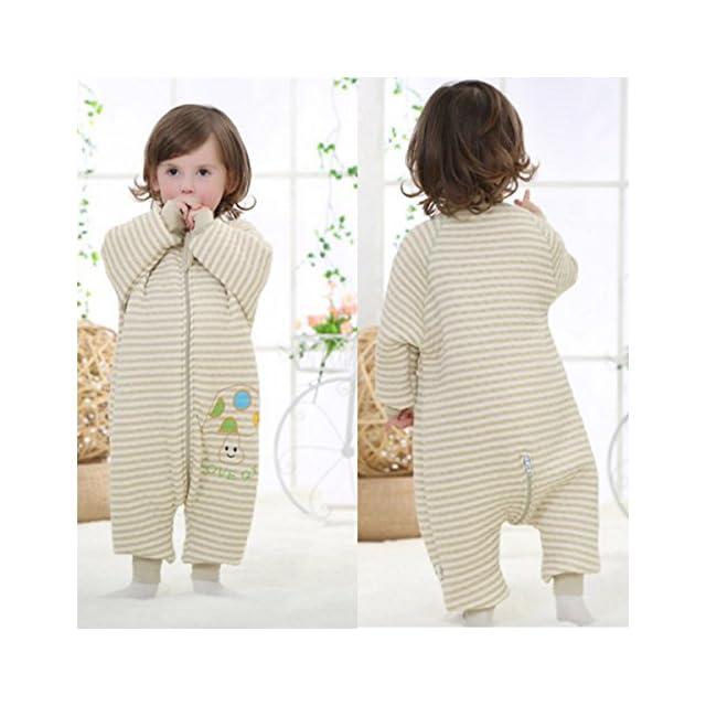 dfb2a8748abff ... Happy Cherry Pyjama Bébé Enfant Fille Garçon Grenouillère en Coton  Manche Longue Sac de Couchage Couverture