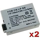 Batterie pour Canon - SODIAL(R) 2 x Batterie de Canon pour LP-E8 EOS Digital Rebel T2i