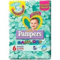 IRPot Pampers Baby Dry Lot de 6paquets de couches-culottes, pour un total de 90couches-culottes, taille 6