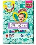 IRPot - 6 PACCHI PANNOLINI PAMPERS BABY DRY TAGLIA 6 90PEZZI