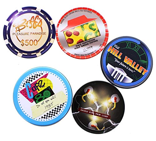 Back To The Future Café 80's 4-Piece Coaster Set in Metal Tin