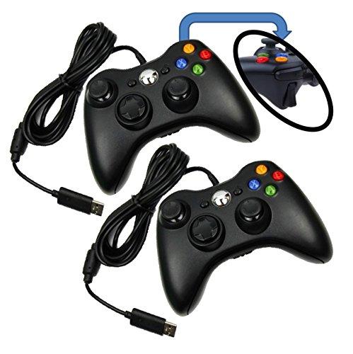 2 x Controller für XBOX 360 / Windows PC mit Dual Vibration, gebraucht kaufen  Wird an jeden Ort in Deutschland