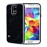 VemMore für Samsung Galaxy S5 / S5 Neo Marmor Case Hülle Hart PC + Soft TPU Case [ 2 in 1] Dual Layer Tasche Case Cover Kratzfeste Ultra Dünn Slim Scratch-Resistant Schutzhülle Bumper Schale Etui für Samsung Galaxy S5 / S5 Neo - Schwarz