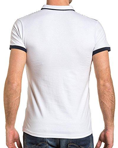 BLZ jeans - Polo weißer Mann gemustert Weiß