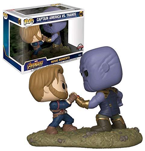 POP Funko Movie Moments Set 2 Piezas Captain America VS Thanos Avengers Infinity War Marvel