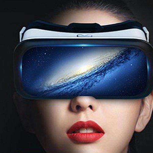 AYI Mit Augenschutz VR-Kopfhörer 3D-Brille 360 HD Immersiv Virtuelle Realität Helm Brille Video Spiel Griff Home Intelligente Spielkonsole Stereoskopische Ausrüstung 4K HD W-LAN