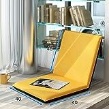 Sitzsäcke Lazy Sofa Faltbare Einzelne Kleine Sofa Bett Rückenlehne Stuhl Balkon Klappkissen Sofa Stuhl (Farbe : D)