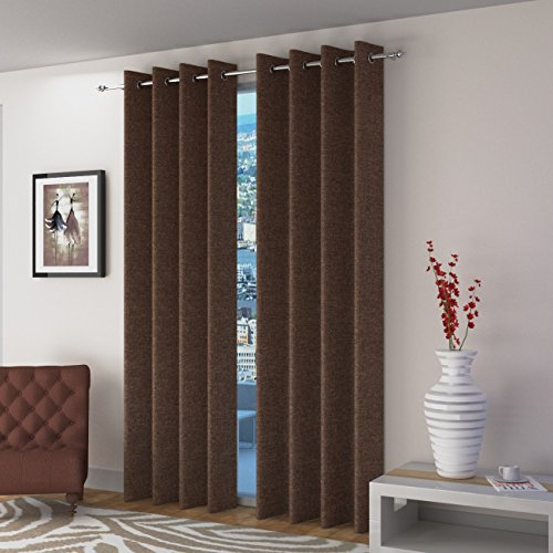check MRP of brown colour curtains innovative edge