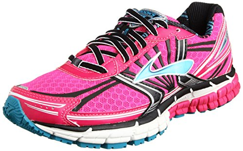Brooks Adrenaline GST 14 Women, Damen Laufschuhe, Pink (Pink Glow/Black/Capri Breeze) Gr. 38 EU