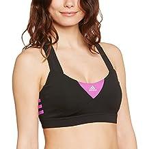 Adidas Bra - Sujetador para mujer, color Negro (Black/Flash Pink), talla XS