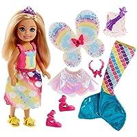 Barbie - Muñeca Chelsea rubia con vestido (Mattel FJD00)