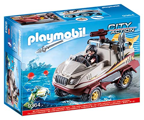 PLAYMOBIL City Action Coche Anfibio Motor Sumergible