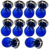 Aerzetix: 10x ampoule bleue G25 P26S 12V 15W pour moto scooter C18935