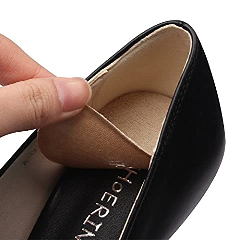 footinsole Shoes Inserts for Heels - Suede Massage Gel Heel Cushion Pad - Relief from Heel 1 Pair