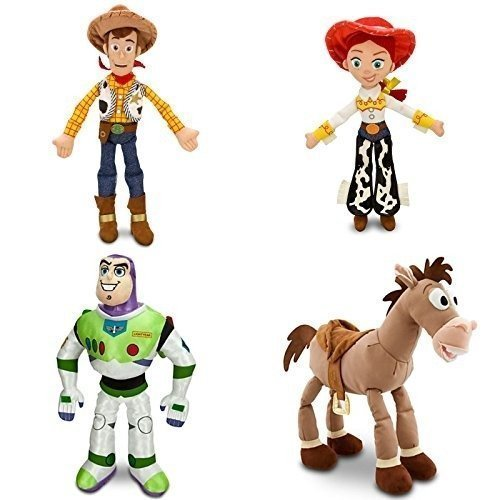 9d7c3747b7e Toy Story - 4 Piece Medium Plush Doll Combo Set with Woody 18, Jessie 16,  Buzz Light Year 17 and Bullseye 17 by Disney
