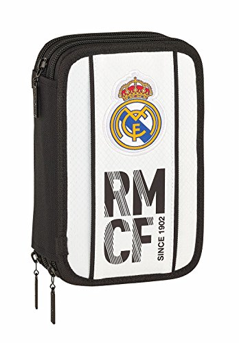Safta Real Madrid 2018/2019 Plumier Triple 41 Piezas Real Madrid 20.5x13.5cm, Blanco