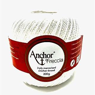 Häkelgarn Anchor Freccia 200g Stärke12 Farbe: 7901 weis