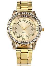 Reloj de pulsera para mujer, KanLin1986 Reloj de pulsera de cuarzo para mujer, reloj deportivo de acero inoxidable (B)