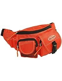 Bag Street Bauchtasche Gürteltasche Hüfttasche Echt Stoff Orange Neu