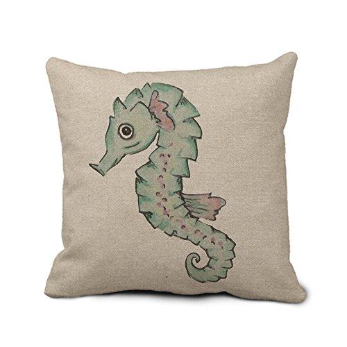 Sea Horse Überwurf Kissen für Couch Retro Decors Kissen Fall Kissenbezug, quadratisch Retro 45x 45cm Kissen Sham für Bett -