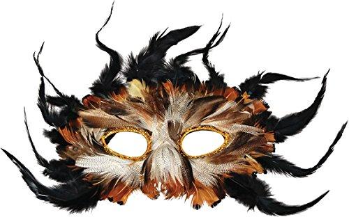 gel Buch Woche ausgefallen Party Eule Feder Maskerade Augen Maske ()