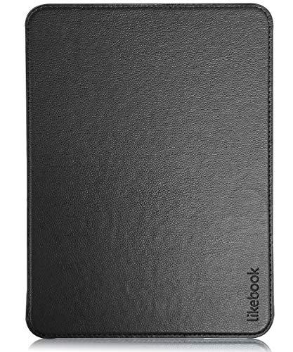 Likebook Mars Hülle - Premium PU Leder Schutzhülle Tasche mit Auto Aufwachen / Schlaf Funktion für Likebook Mars eReader 19,8 cm (7,8 Zoll), Schwarz