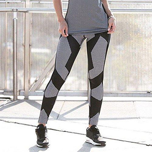 Dihope Femme Automne Printemps Taille Haute Pantalon Collant Imprimé Crayon Mince Stretch Skinny Fesse Legging Jegging Noir