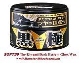 The Kiwami soft99Extreme Gloss Wax Black Cire rigide Cire de voiture pour vernis sombres avec Monster...
