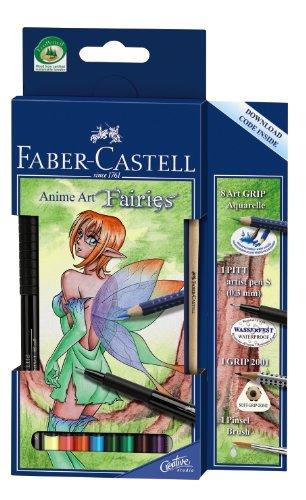 Faber-Castell 114482 Etui MANGA ART GRIP AQUARELLE Fairies