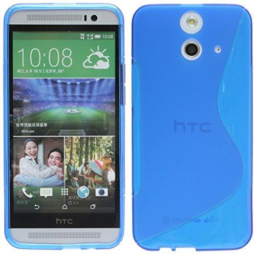 HTC One E8 Silikon Hülle Tasche Case Gummi Schutzhülle Zubehör in Blau @ Energmix