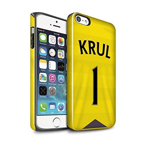 Offiziell Newcastle United FC Hülle / Glanz Harten Stoßfest Case für Apple iPhone 5/5S / Shelvey Muster / NUFC Trikot Home 15/16 Kollektion Krul
