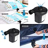 Electric Air Bed Pump,3 in 1 Inflates and Deflates nozzle adapters, 2 in 1 Power Source Fast Electric Air Pump, Car Lighter Use &UK plug, AC 240V /DC 12V