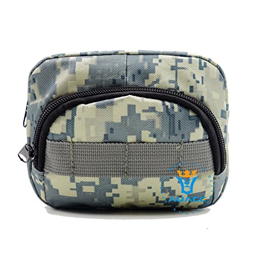 Multifunktions Survival Gear Tactical Beutel MOLLE POUCH Utility Assault Zubehör Tasche, Outdoor Camping Tragbare Travel Bags Handtaschen Werkzeug Taille Bag Handy Pouch ACU