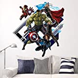 Y007 Creative 3D The Avengers Quote Wall Stickers For Home Decor Children Bedroom Living room House Decoration by Rousmery