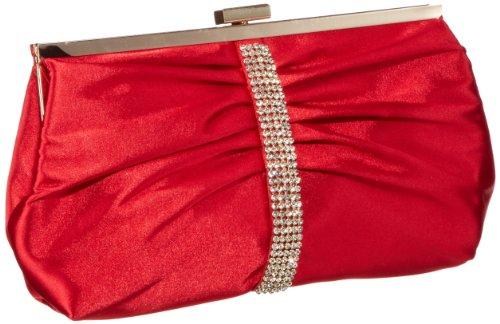 Victoria Delef EVENING BAG - Bolso de mano mujer, color rojo, talla 23x13x4 cm (B x H x T)