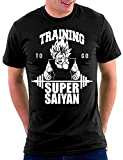 Son Goku Super Saiyan Dragonball T-shirt, Größe L, Schwarz