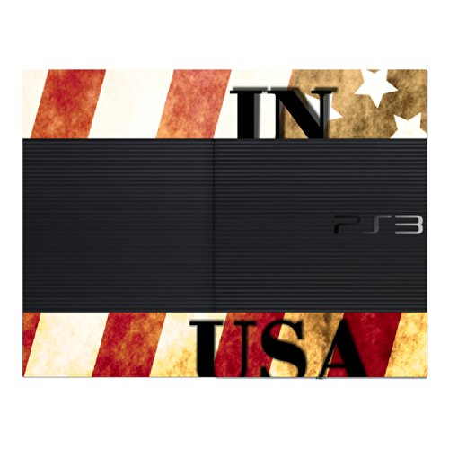 "Motif Disagu Design Skin pour Sony PS3 Ultra Slim + Controller: ""BORN IN THE USA"""