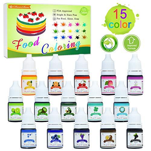 Lebensmittelfarbe - 15 Flüssige ...