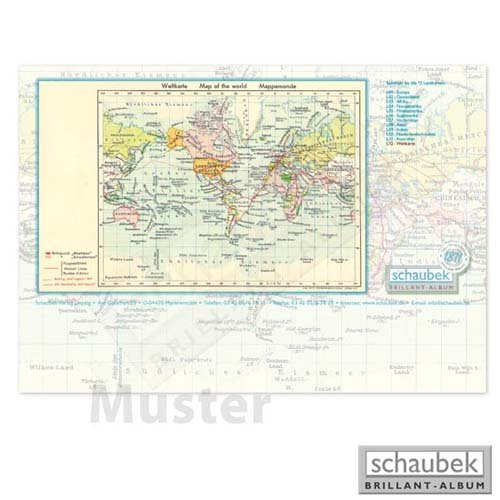 Schaubek Briefmarkengeographie Schreibtischunterlage Vorderasien L07
