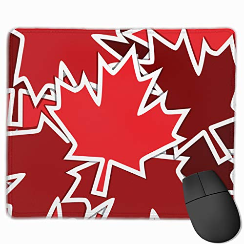 Sticker Scatter Canada Day Card Canadian Holidays Mousepad Non-Slip Rubber Gaming Mouse Pad Rectangle Mouse Pads for Computers Laptop 11.8X9.8 Inch -
