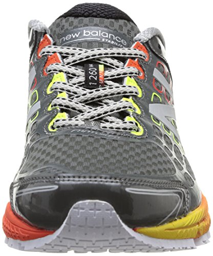 New Balance Men's M1260 NBX Running Shoe,Grey/Orange,15 D US Grey / Orange