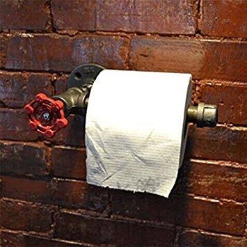 Preisvergleich Produktbild Industrial Urban Retro Wandhalterung Eisen Rohr WC-Papierrollenhalter
