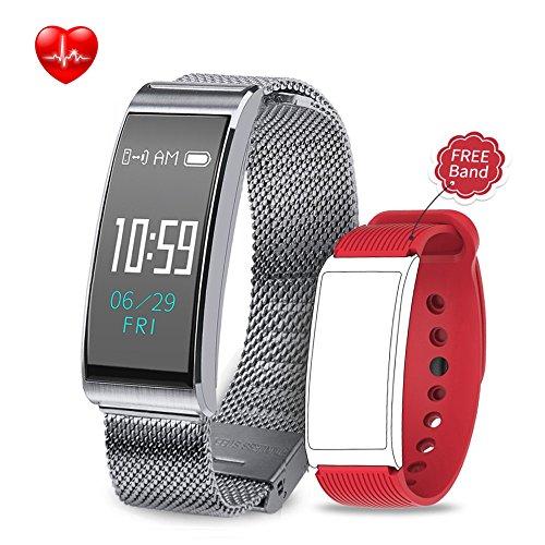 Montre Connectée, Backture Bracelet Intelligent de Sport Fréquence Cardiaque Surveiller étanche IP68 Bluetooth Cardio Pédomètre Mesure Pour IPhone/Android……
