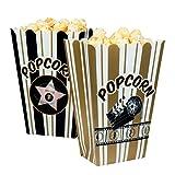 Boland 44210-Set Schalen für Popcorn Hollywood, weiß/schwarz/Gold