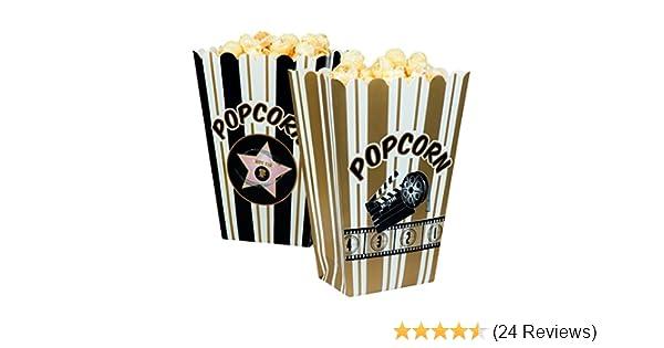 "4er Pack Popcorn-Tüten Popcorn-Schalen  /""Hollywood/"" Party Deko"