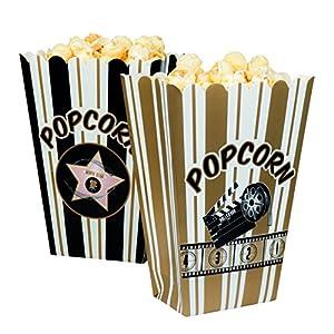 Boland 44210-Juego de cuencos para palomitas Hollywood, blanco/negro/oro