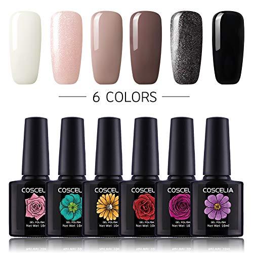 k Set 6pc Gellack Farbenset UV Farbgel Nagelgel Set Gel Lacken Polish ()
