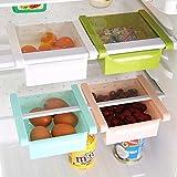 Mehrzweck-Kunststoff Küche Kühlschrank Aufbewahrung Schublade Gefrierschrank Organisation Regal SPACE SAVER(4 Farbkombinationen)